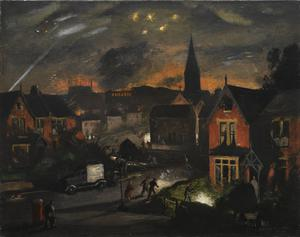Incendiaries in a Suburb, 1941