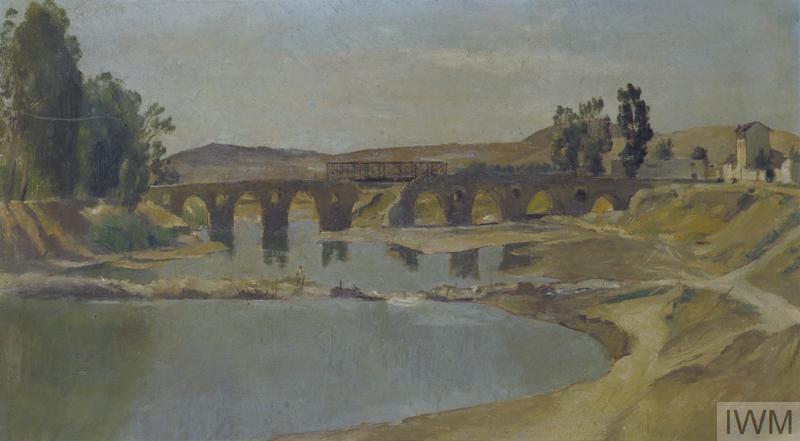 The Bailey Bridge At Medjez El Bab Art Iwm Art Ld 3100