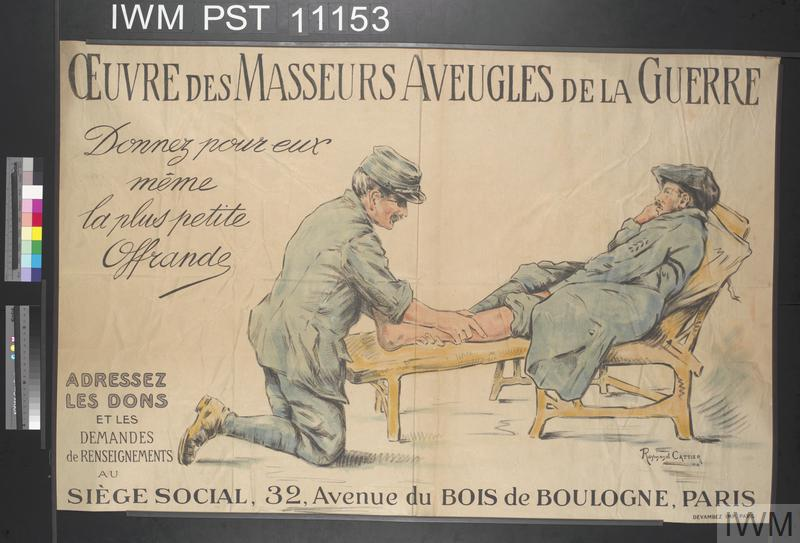 Œuvres des Masseurs Aveugles de la Guerre [Charity for Masseurs Blinded in the War]