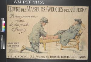 Œuvres des Masseurs Aveugles de la Guerre [Charity for Masseurs Blinded in the War]