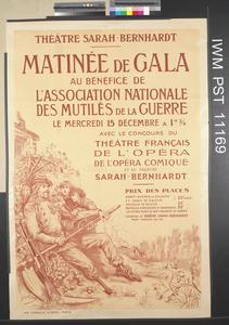 Matinée de Gala au Bénéfice de l'Association Nationale des Mutilés de la Guerre [Morning of Official Reception for the Benefit of the National Association of Disabled Ex-Servicemen]