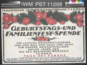 Geburtstags und Familienfest Spende [Birthday and Family Celebration Appeal]