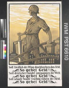 Soll Friedlich der Pflug Durchfurchen das Feld, so Gebet Geld! [If the Plough is to Till the Field Peacefully, Donate Money!]