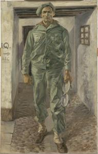 An American Soldier in Fatigue Dress