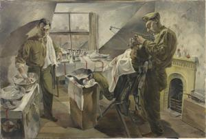 16th US Medical Regiment : Field Dental Service operating during an attack