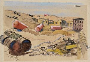 Unburied German Petrol Containers, Tobruk