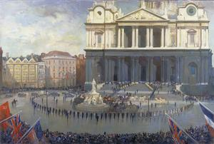 The Exterior of St Paul's Cathedral on Thanksgiving Day, 13th May 1945