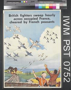 British Fighters Sweep Hourly Across Occupied France, Cheered by French Peasants