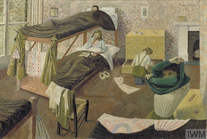 Land Army Girls Going To Bed Art Iwm Art Ld 3351