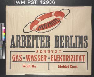 Arbeiter Berlins [Workers of Berlin]