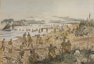 The Black Watch landing in Sicily at Red Beach