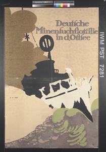 Deutsche Minensuchflotille in der Ostsee [German Minesweeping Fleet in the Baltic]