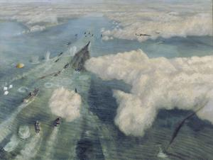 Attack on a Convoy Seen from the Air