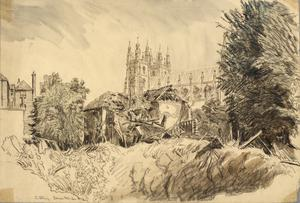 Canterbury Cathedral, 1942
