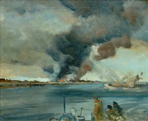 Rocket-Ships in Firing Position off Walcheren