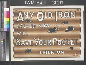 Any Old Iron - Salved Now will Save Your Pocket Later On