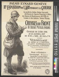 Œuvres du Front de Blessés, Mutilés, Internés [Works from the Front by the Wounded, Disabled, and Interned]