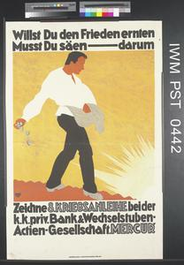 Willst Du den Frieden Ernten Musst Du Säen  - Darum Zeichne Achte Kriegsanleihe [If You Want to Reap Peace You Must Sow – So Subscribe to the 8th War Loan]