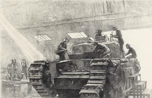 Women at Work on a Tank