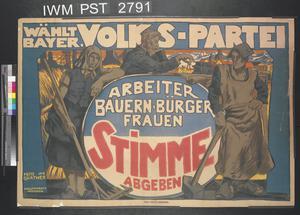 Wählt Baÿerische Volkspartei [Vote for the Bavarian People's Party]