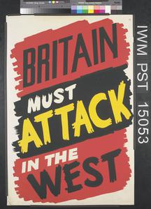 Britain Must Attack in the West