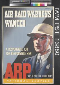 Air Raid Wardens Wanted - ARP