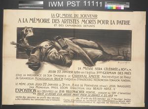 La Neuvième Messe du Souvenir - A la Mémoire des Artistes Morts [Ninth Memorial Mass - In Memory of Artists who have Died]