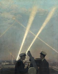 Evening Quarters : The look-out at Cannon Street Anti-Aircraft Station