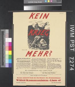 Kein Krieg Mehr? [No More War?]