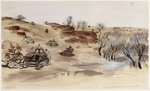 Carriers and Light Tanks on Driving Practice : 51st Army Training Regiment