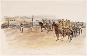 A Parade of Druze Cavalry at Soueida, Jebel Druze