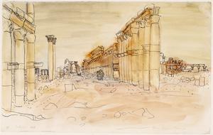 Roman Ruins at Palmyra, Syrian Desert