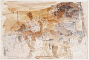 The Battle of Egypt, 1942: Sergeant-Major and Orderlies of No 1 Light Field Ambulance
