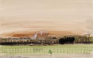 A Barrage Balloon, Green Lanes, Finsbury Park 1939