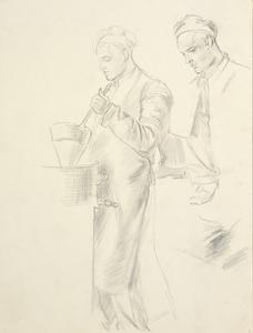 Study for 'Sergeants Receiving Kitchen Range Instruction' (LD1170)