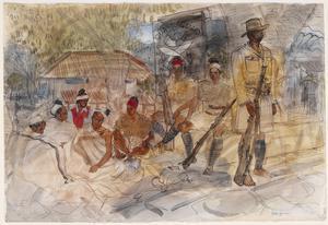Chins at War: Tiddim Garrison Police with Three Haka Village Headmen as Prisoners