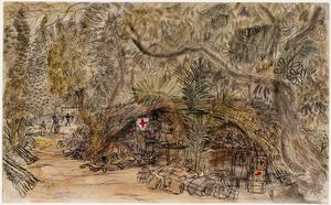 Battle of Arakan, 1943: A First Aid Post in the Jungle near Kyaukpenduywama
