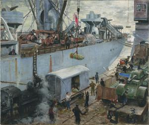 Loading Ammuniton at Hull Docks 1943