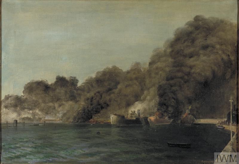 The Morning After The Big Raid At Bari Italy Art Iwm Art
