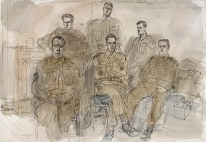 The 50th (Northumbrian) Division, 1944: The 74th (Northumberland) Field Regiment RA : Sergeant F Driscoll ; Lance-Sergeant J A Wait ; Gunner C Reeves ; Battery Sergeant-Major L A Trosh ; Bombadier H Ellis MM ; Battery Sergeant-Major A Manson