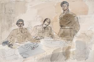 The 50th (Northumbrian) Division, 1944: 86th (Hertfordshire Yeomanry) Field Regiment, RA : Lieutenant-Colonel G D Fanshaw, OBE ; Captain R R Thornton, Adjutant ; Regimental Sergeant-Major T Lightfoot