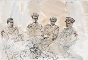 The 50th (Northumbrian) Division, 1944: 6th Battalion, Green Howards, 69 Brigade : Major F H Honeyman ; Lieutenant-Colonel R H W S Hastings, MC ; Major C M Hill, MC and bar ; Lieutenant T T MacAdam