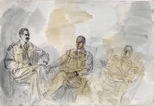 The 50th (Northumbrian) Division, 1944: Major H L V Faviell, (Duke Of Cornwall's Light Infantry) ; Lieutenant-Colonel H N Charrington ; Lieutenant-Colonel S B Simmons, MC, Royal Tank Regiment