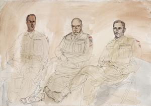 The 50th (Northumbrian) Division, 1944: Battalion Commanders of the 231 (Malta) Brigade : Lieutenant-Colonel H D Nelson-Smith, MC, 1st Battalion, Hampshire Regiment ; Lieutenant-Colonel A W Valentine, DSO, OBE, 2nd Battalion, Devonshire Regiment ; Lieutenant-Colonel W H B Ray, DSO, 1st Battalion, Dorset Regiment