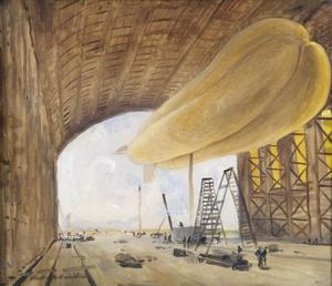 HM Airship No 3, at Kingsnorth 1914