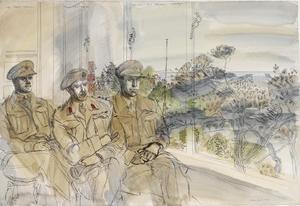 The 50th (Northumbrian) Division, 1944: 69 Brigade : Captain N H Nicholson, GSO3 ; Brigadier F Y C Knox, DSO ; Major C P N Parker, Brigade Major