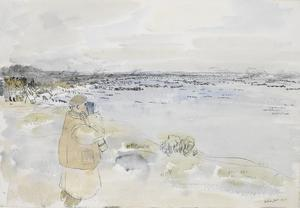 The 50th (Northumbrian) Division, 1944: Landing Exercise 'Smash One' with Spectators (Including Corps and Divisional Commanders) in Left Hand Distance