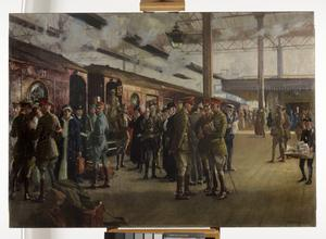 The Staff Train At Charing Cross Station 1918