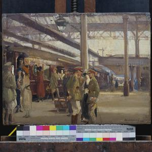 First Study for the Staff Train At Charing Cross Station (No 1881)