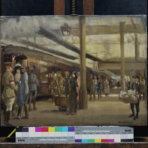 Second Study for the Staff Train At Charing Cross Station (No 1881)